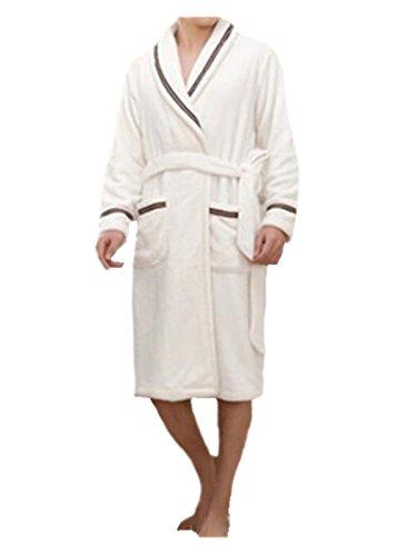 Timosson Men's Flannel Kimono Robe