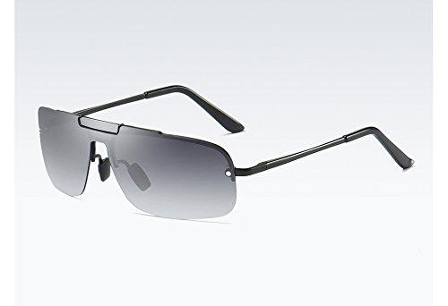Degradado Gafas Sol Sunglasses Calidad Gafas UV400 de Gris gradient para de TL gray Alta Gris black Hombres Hombre Sol la polarizadas con UIZYAAn
