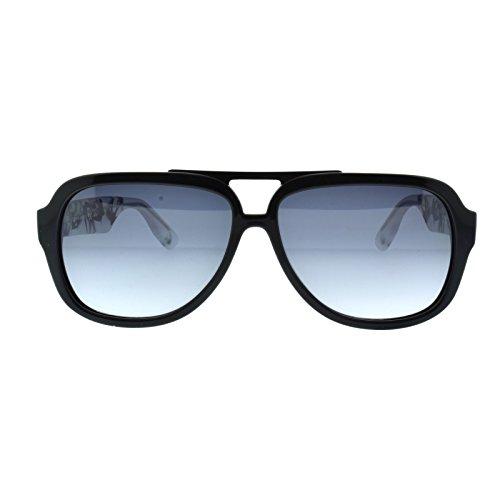 Alexander McQueen MCQ 0021 RL8 Black Crysal Crow Print Aviator - Mcqueen Men Alexander Sunglasses