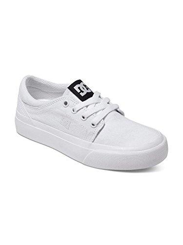 3 Youth Skate Shoes (DC Trase TX Skate Shoe,White/White,3)