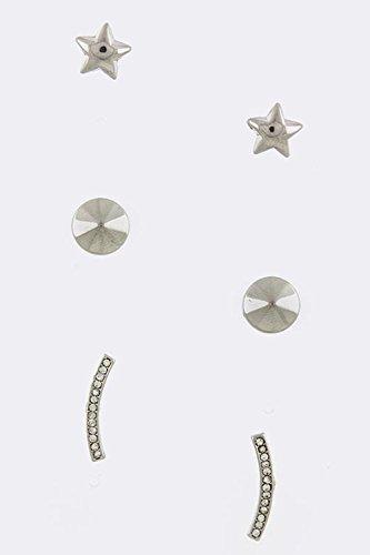 KARMAS CANVAS STAR AND ARC ORNATE EARRINGS SET - Citrine Hardy Earrings John