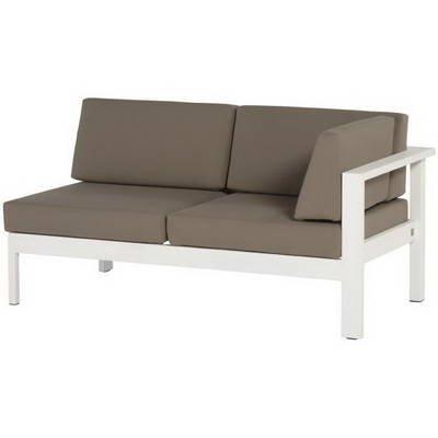 4 Seasons Cosmo 2-Sitzer Modul Armlehne Links Weiß