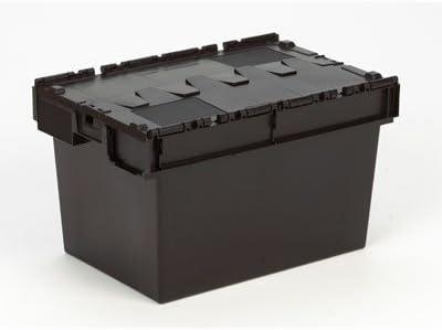 2 x caja de plástico pegadas 80 litros plástico reciclado - caja organizadora cajón totalizador - tapa caja con tapa incluidas: Amazon.es: Bricolaje y herramientas