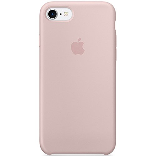 Iphone Pink Silicone (Optimal shield Soft Leather Apple Silicone Case Cover for Apple iPhone 7 (4.7inch) Boxed- Retail Packaging (Pink))