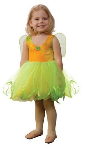 [Aeromax Tie Dye Fairy Dress with Attached Wings, Lime Green/Yellow, Size 2/3] (Tie Dye Dress Costume)