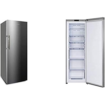 CONGELADOR VERTICAL CV-176IX INFINITON INOX (A+, NO FROST, Puerta reversible, Termostato regulable, Independiente)
