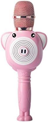 Qiaoxianpo01 カラオケ、オーディオ用マイク内蔵マイク、ブルーの子供用オールラウンド携帯電話 。 音がきれいです。 (Color : Pink)