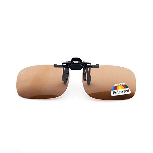 Gafas de on LTS005 mujer hombre 55mm up flip sol polarizadas clip marr¨®n Jee HUWd5n5