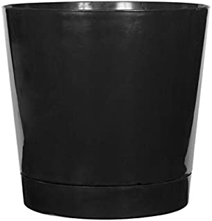 product image for Full Depth Round Cylinder Pot, Black, 14-Inch