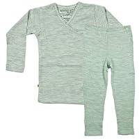 Merino Kids Long-Sleeve Pajama Set, Mint, For Babies 1-2 years