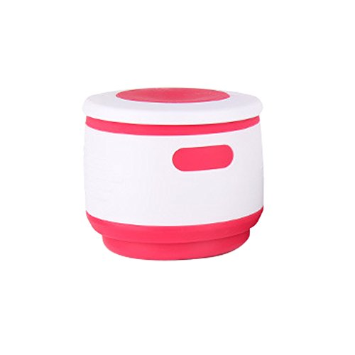 iModen Silicone Foldable Handy Cup Portable Storage Cup for Traveller,Bussiness people (Carmine)