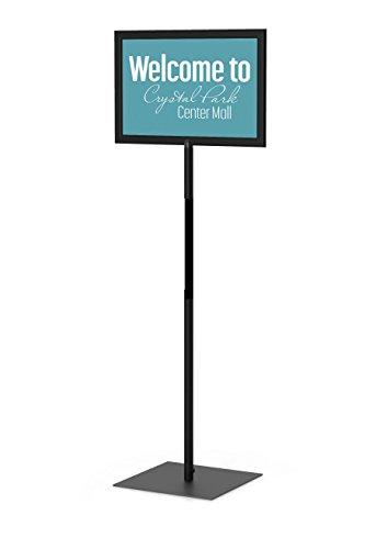 - Classic Pedestal Sign Holder Floor Stand Complete Kit: 8.5