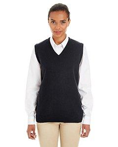 V-neck Performance Sweater Vest (Harriton Womens Pilbloc V-Neck Sweater Vest (M415W) -Black -XS)