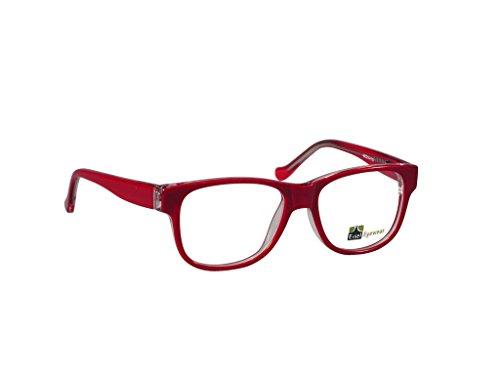 ES76 Round Oval Eye Glasses Acetate Full Frame (Burgundy, - Frames Eyeglass Discounted