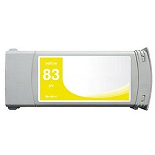 Replacement YELLOW Ink Cartridge for HP 83, C4943A, DesignJet 5000 / 5000 Dye / 5000PS Dye / 5500 / 5500 Dye / 5500 UV / 5500PS / 5500PS Dye