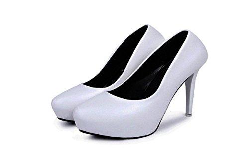 HBDLH Zapatos de Mujer/White 12Cm Tacones Altos Zapatos Sharp Otoño Zapatos De Mujer white