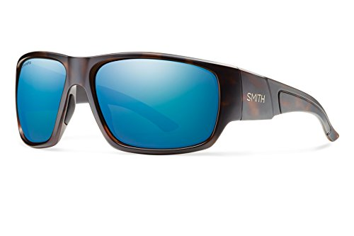 Smith Optics Dragstrip Lifestyle Polarized Sunglasses, Matte Tortoise/Chromapop Blue - Sunglasses Smith Fishing