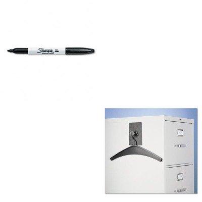 KITQRT2015MSAN30001 - Value Kit - Quartet Magnetic Coat Hook w/Heavy-Duty Hanger (QRT2015M) and Sharpie Permanent Marker (SAN30001)