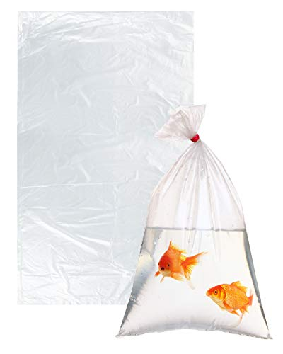 (APQ Pack of 100 Plastic Fish Bags 9 x 15. Clear Polyethylene Bags 9x15. FDA, USDA Approved, 2 mil. Fish Transport Bags for Storing and Transporting. Ideal for Industrial, Healthcare, Food Service.)