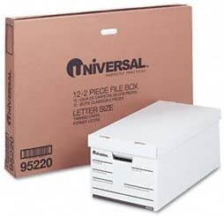 Universal Medium-duty Economy Storage Files BOX,STOR,LTR (Pack of2)