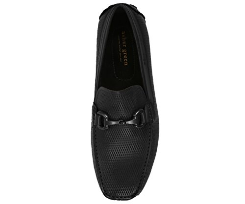 Asher Green Men's Loafers Genuine Leather & Suede Driving Shoes Black/Leather outlet discounts low price Inexpensive sale online jeFZp