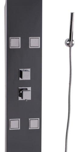Wohnling panel de ducha con masaje acero 140 for Ducha efecto lluvia precio