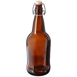 1 X 32 oz. Amber EZ Cap Kombucha Bottle 84 Amber EZ Cap Kombucha bottle 32 oz Resealable and reusable