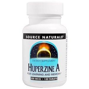 Huperzine A, 200 mcg, 120 Tablets (Naturals 120 Tabs Source Mcg)