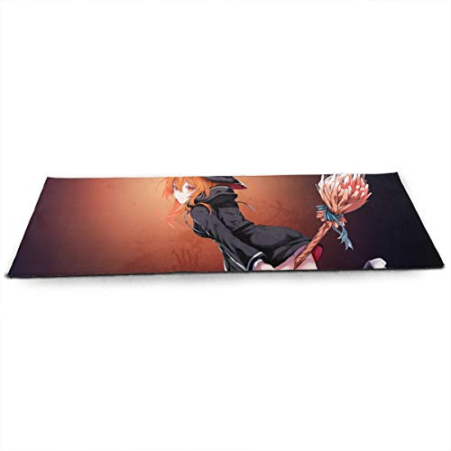 Halloween Animated Girl Witch Riding Broom ECO Aqua Power Kinematic Iyengar Kundini Hot Pilates Gymnastics Hatha Yoga Mat Exercise Mat ()