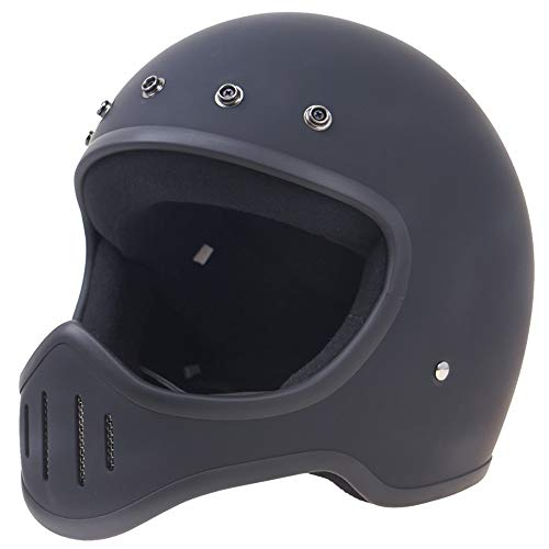 Helmet Motor Cycle Bike Scooter Motocross Race Full Face Crash Helmet DOT ECE 22.05 Approved Sport Adventure Helmets for Bicycle Road Bike Cycle BMX Riding Red