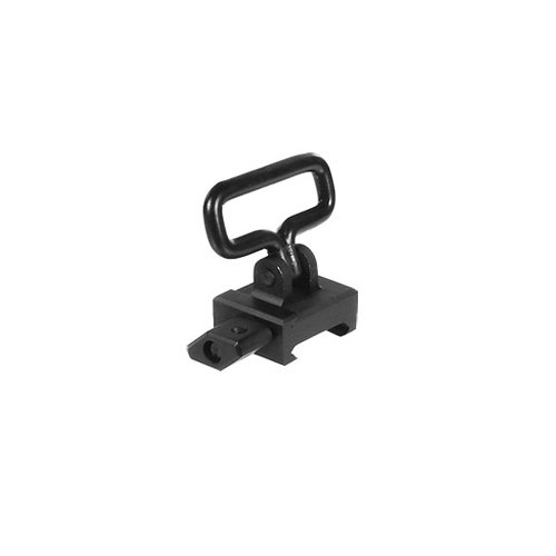 UTG Riemenbügel Detachable Swivel with Picatinny Mounting Base - Cabestrillo para armas de caza, color negro TL-SWMTP01