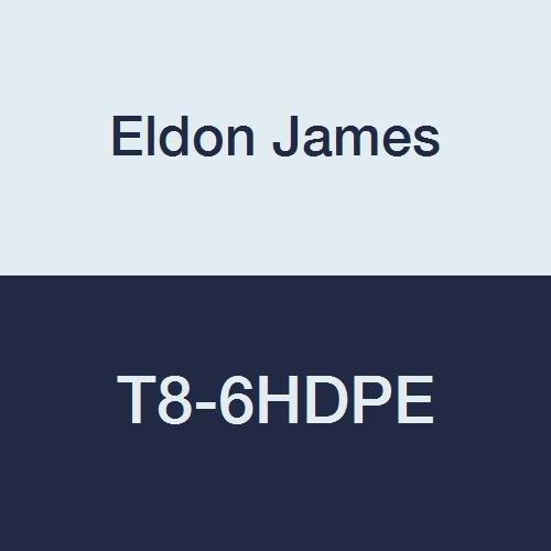 Eldon James T8-6HDPE High Density Polyethylene Threaded Miniature Tee, 1/2-14 NPT Thread to 3/8'' Hose Barb (Pack of 10)