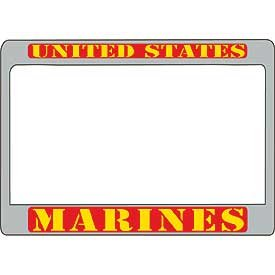 US Armed Forces Military Metal Motorcycle License Plate Frame - United States Marines