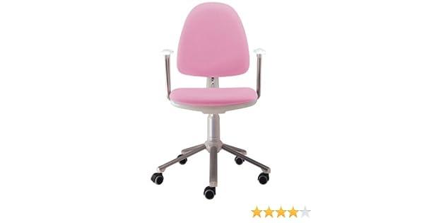 Silla de oficina juvenil Flax hielo tapizada en rosa: Amazon.es: Oficina y papelería