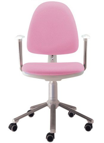 Silla de oficina juvenil Flax hielo tapizada en rosa