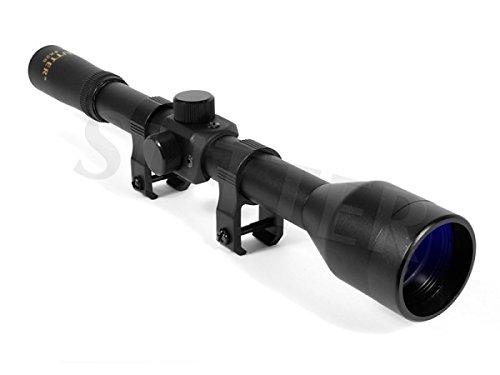 SUTTER Rifle Scope 4x28 Duplex - Mounts: for 11-13mm rails