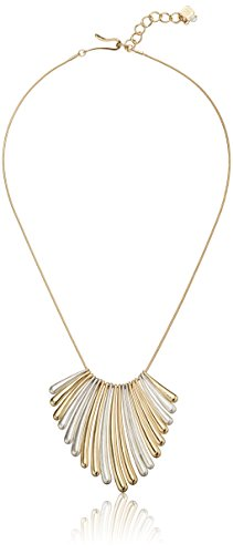 Robert Lee Morris Mirror Image Two-Tone Sculptural Stick Necklace