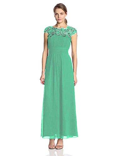 Emily Spitze lang Maxi Abendkleider mit Hellblau Cal Beauty awBqU6E