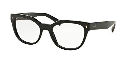 Prada Black (Prada PR21SV Eyeglass Frames 1AB1O1-53 - Black PR21SV-1AB1O1-53)