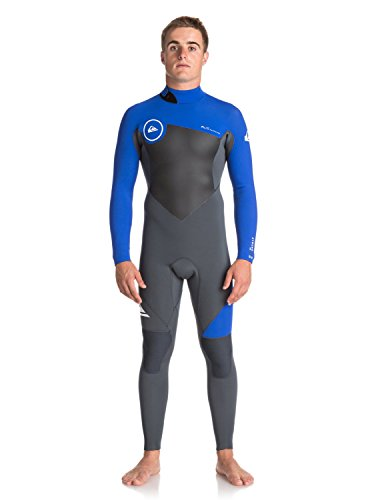 Quiksilver 3/2 Syncro Series Back-Zip Flt Wetsuit - Men's Gun Metal/ Hv Royal/ White, - Wetsuit Lt