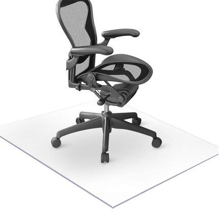 Office Chair Mat Hard Floor for Wood Hardwood Tiles Laminate Concrete Floors Pad Under Computer Desk Chair Mats Pad Protector Cover Wipeable Clear Plastic PVC Vinyl 36 48 1 8 Thick Nonslip Large