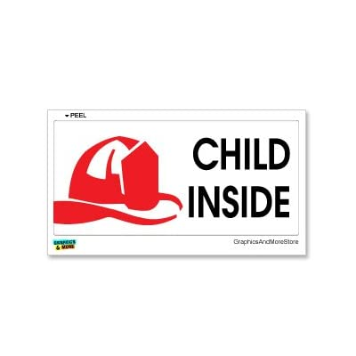 Graphics and More Child Inside - Home Firefighter Fireman Alert - Window Bumper Sticker: Automotive