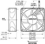 NMB TECHNOLOGIES 3110KL-05W-B30-D00 AXIAL FAN, 80MM, 24VDC, 80mA