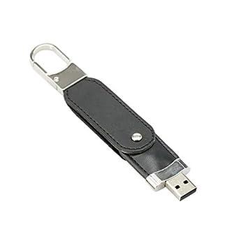 64GB Negro PU llavero USB Flash Drive Pen unidad pendrive ...