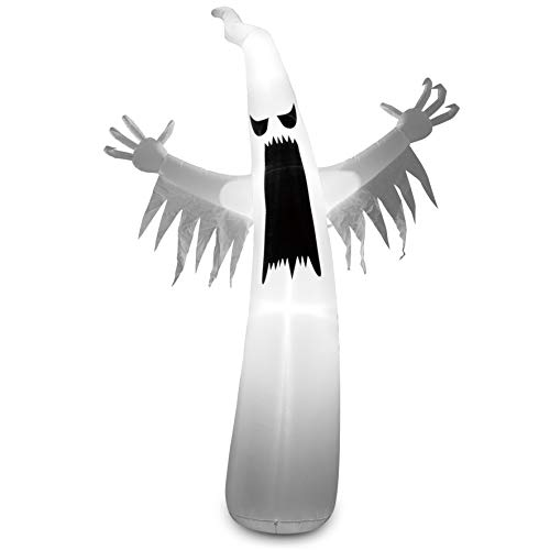 Joiedomi 12 Foot Tall Halloween Inflatable Blow Up Towering Spooky Ghost for Halloween Decoration (12 ft Tall)