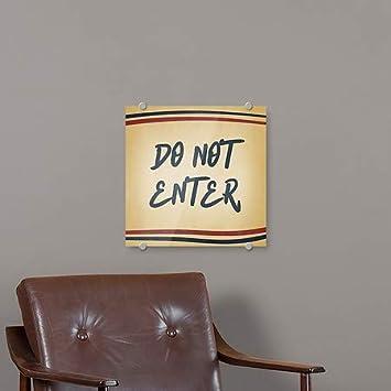 CGSignLab Do Not Enter Nostalgia Stripes Premium Brushed Aluminum Sign 5-Pack 16x16