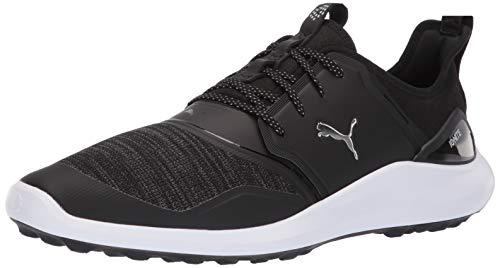 Puma Golf Men's Ignite Nxt Lace Golf Shoe Black Silver-Puma White, 10 M US ()