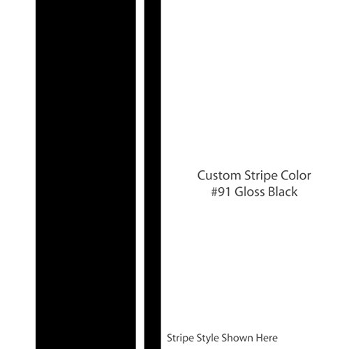 "1060 Graphics The Jake 4"" inch Wide Custom Racing Stripes/Color Gloss Black/Choose from 22 Stripe Width Options/car Truck Vehicle Vinyl Decal/Custom Made (4"" W x 72"" L)"