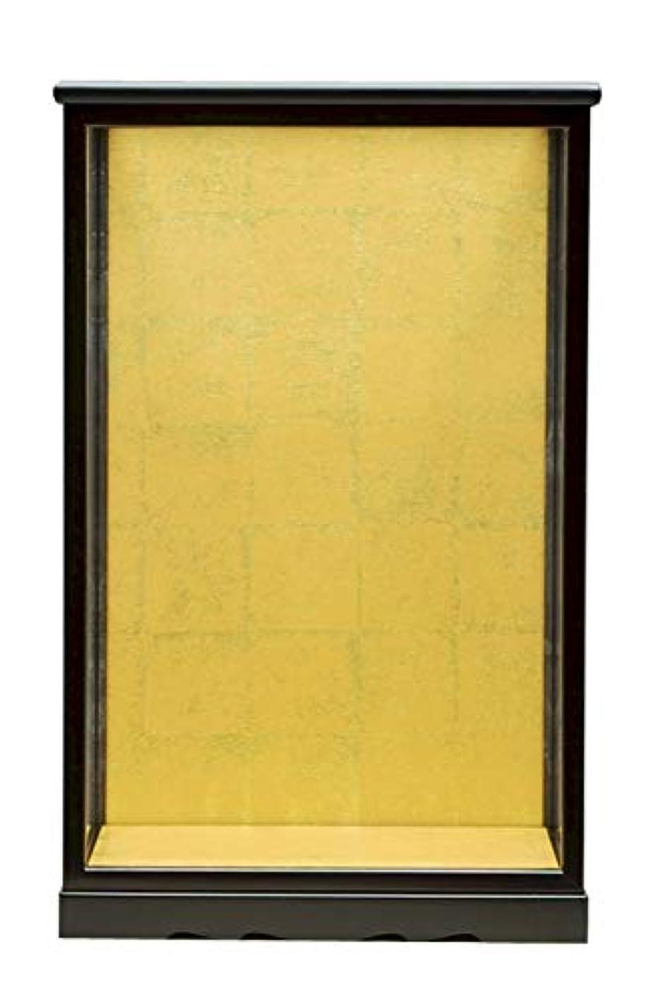 形オプション適合する人形ケース333 間口20×奥行16×高さ30cm(ケース内寸) 黒塗り ガラスケース 木製 カブセタイプ 博多人形 市松人形