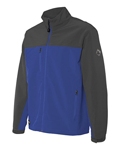- DRI Duck Men's 5350 Motion Wind/Water Resistant Zip-Up Soft Shell Jacket (X-Large, Tech Blue/Charcoal)